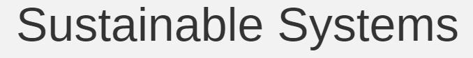 Sustainable Systems headline